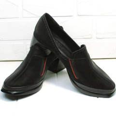 Кожаные туфли полуботинки женские H&G BEM 167 10B-Black.