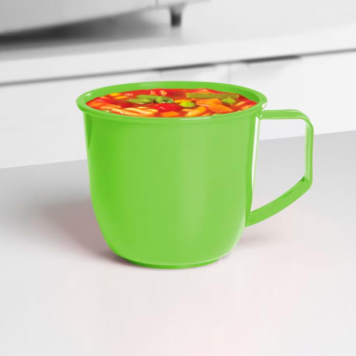 """Кружка суповая для СВЧ Sistema """"Microwave"""" 900 мл, цвет Зеленый"""