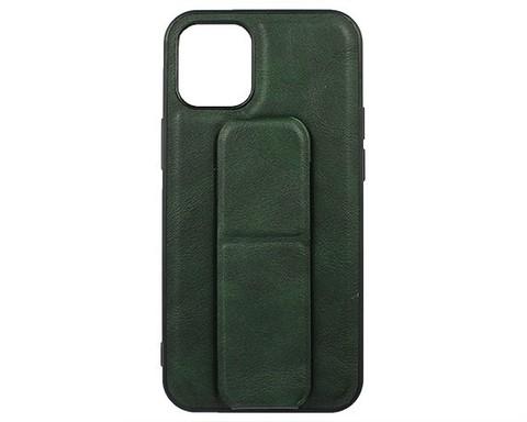 YASHI / Чехол для iPhone 12 Mini искусственная кожа | с держателем зеленый