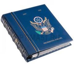 Альбом VISTA для президентских долларов  (US Presidential Dollars) 2007-2016 гг, с шубером, синий