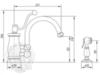 Смеситель для кухни на 2 отв. с лейкой Migliore Vivaldi ML.VIV-9920