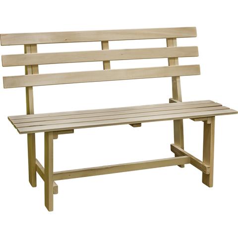 Скамейка со спинкой разборная 130х50х40 см