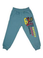 1407-4 брюки детские, серо-зеленые