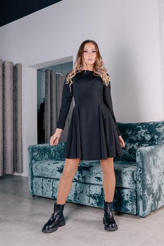 Черное платье с рукавами клеш оптом