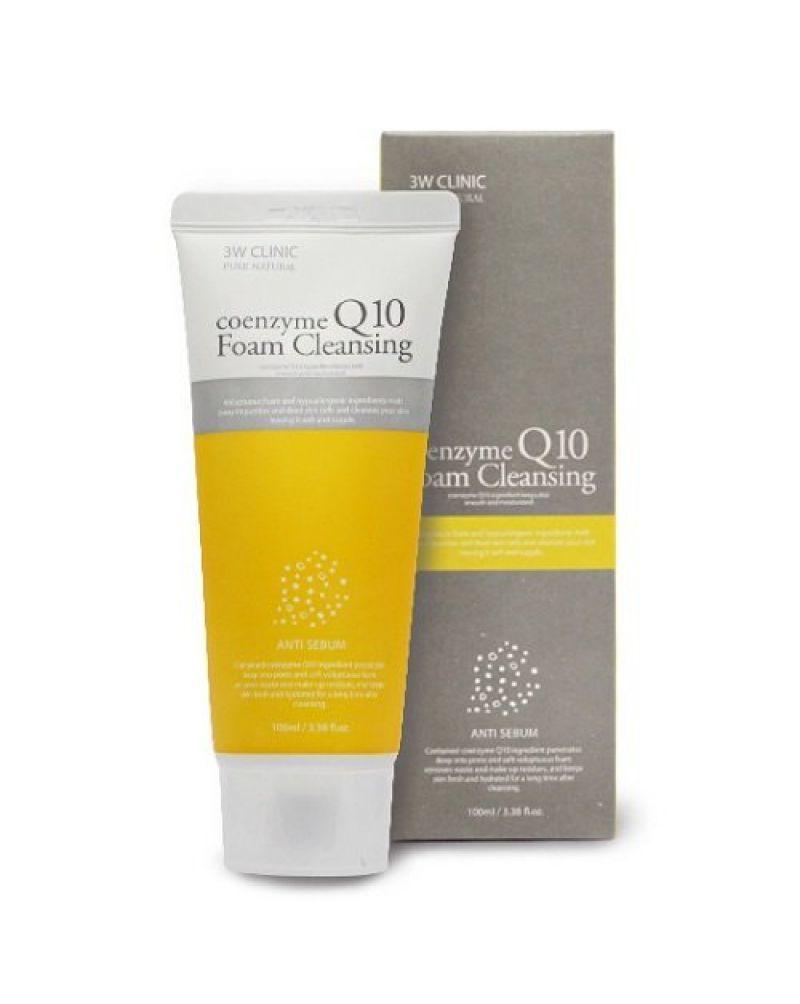 Пенки для умывания Пенка для умывания КОЭНЗИМ Q10 3W CLINIC Coenzyme Q10 Foam Cleansing 100 мл 287706_2-800x1004.jpg