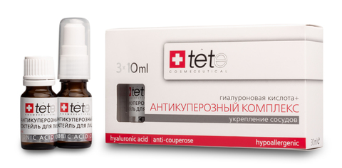 Гиалуроновая кислота + Антикуперозный комплекс / TETe Hyaluronic acid + Anticouperose complex 3*10 ml