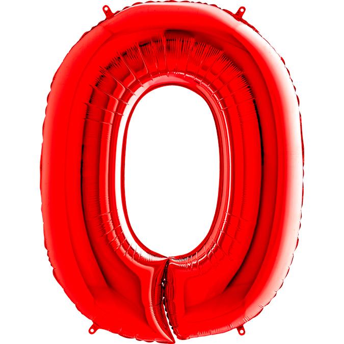 Красная цифра 0