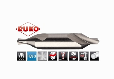 Сверло центровочное Ruko DIN333 HSS №А 1,0х31,5мм 217010