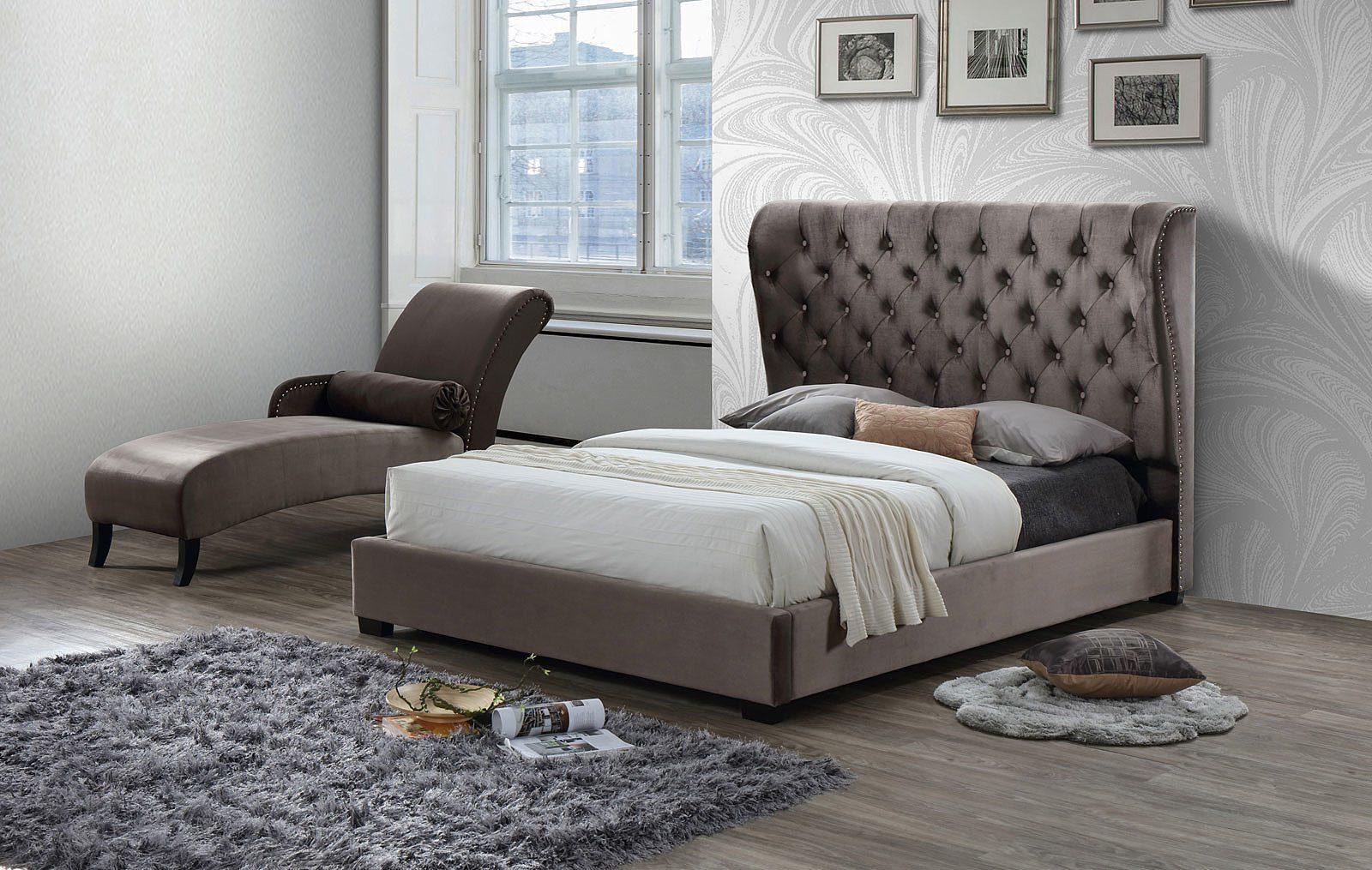 Кровать ESF INFI2971 темно-коричневая и Шезлонг INFI1040 темно-коричневый