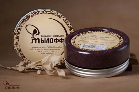 Голубичный сахарный скраб для тела с маслами ши и кокоса, 250 г, ТМ Мылофф