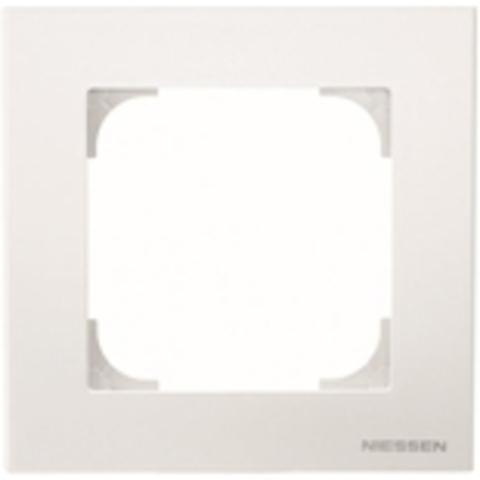 Рамка на 1 пост. Цвет Белый. ABB(АББ). Sky(Скай). 2CLA857100A1101