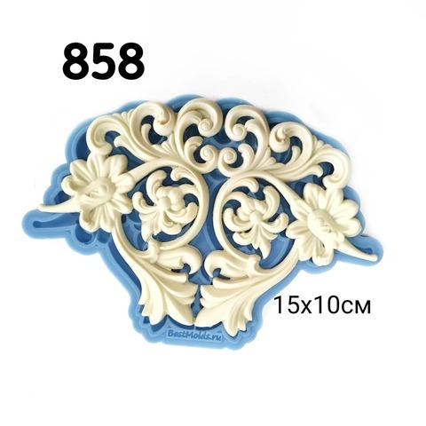 0858 Молд силиконовый. Орнамент. Центральный элемент.