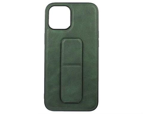 YASHI / Чехол для iPhone 12 Pro Max искусственная кожа | с держателем зеленый