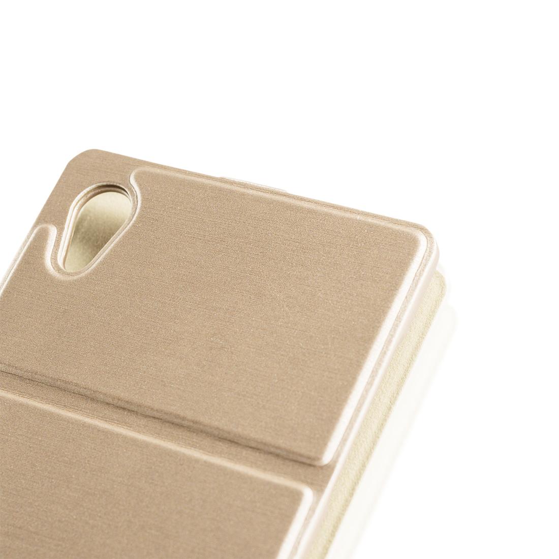 Откидной чехол для Xperia Z5 золотистого цвета купить в Sony Centre Воронеж