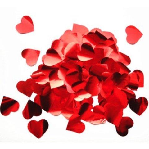Конфетти Сердца фольг красные 3см 300гр