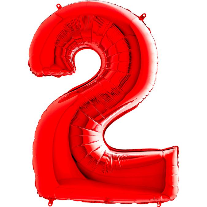 Красная цифра 2