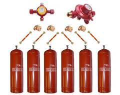 Газобаллонная система GOK (стандарт) для подключения 6 металлических баллонов