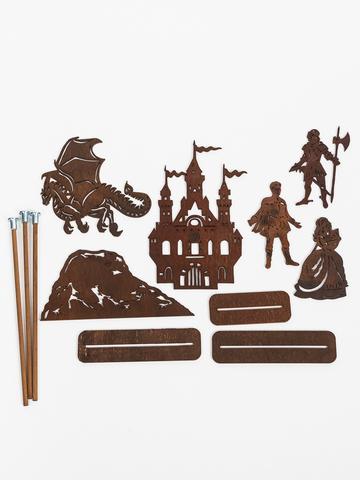 ПРИНЦЕССА И ДРАКОН набор фигурок для театра теней