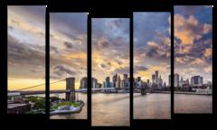"Модульная картина ""Вечерний Бруклинский мост"""