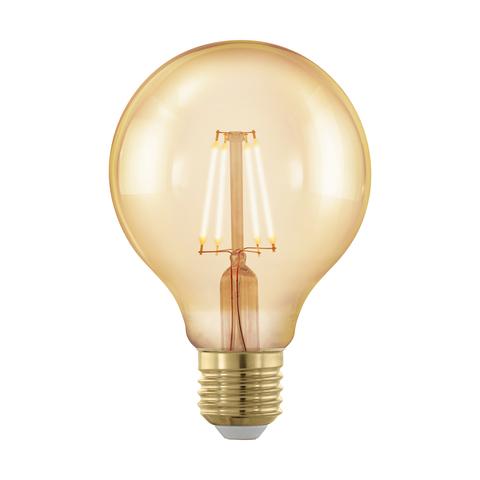 Лампа  LED филаментная диммир. золотого цвета Eglo GOLDEN AGE LM-LED-E27 4W 320Lm 1700K G80 11692