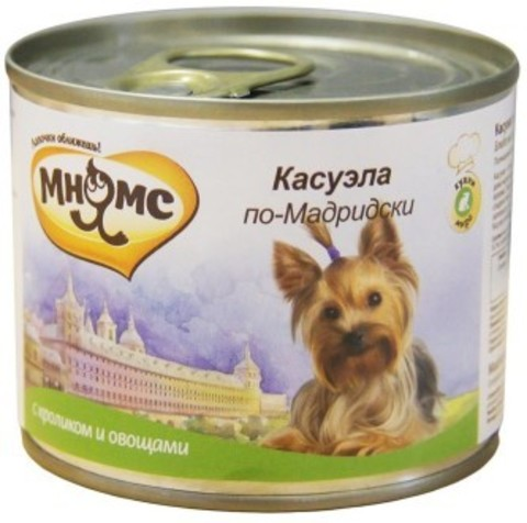 Мнямс консервы для собак Касуэла по-Мадридски (кролик с овощами)
