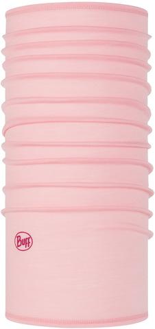 Тонкий шерстяной шарф-труба Buff Wool lightweight Solid Light Pink фото 1