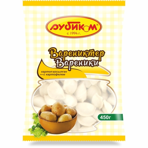 Вареники РУБИКОМ Картофель 450 гр
