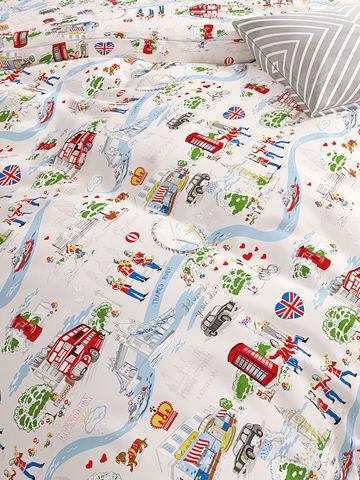 Простынь на резинке  -Лондон беж- натяжная 90х200х26 см 1,5-спальная