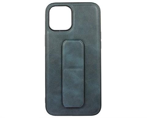 YASHI / Чехол для iPhone 12/12 Pro искусственная кожа | с держателем синий