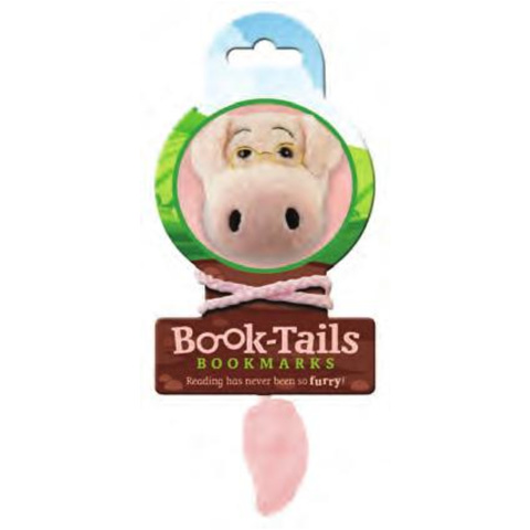Book-Tails Bookmark-Pig