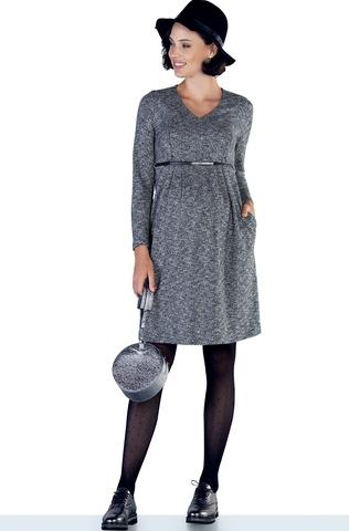 Платье для беременных и кормящих 09874 серый