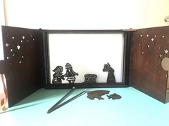 театр теней STANDART + набор фигурок ПРИНЦЕССА И ДРАКОН в подарочной коробке Крошки в окошке