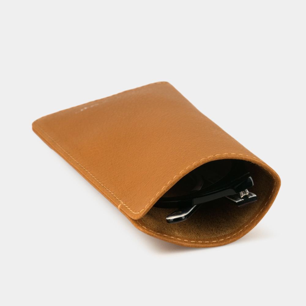 Футляр для очков Lunette Easy из натуральной кожи теленка, золотого цвета