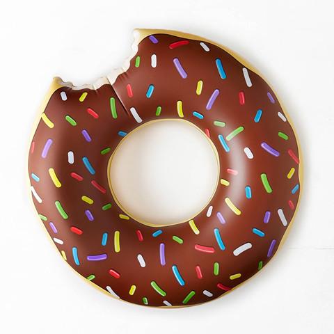 Надувной круг для плавания пончик шоколадный Chocolate Donut 70см
