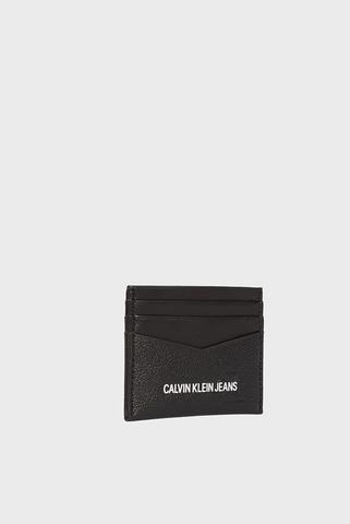Мужская черная кожаная визитница CARDCASE 6CC Calvin Klein Jeans