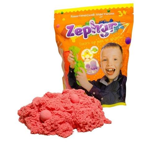 Кинетический пластилин Zephyr (Зефир) в дой-паке, розовый 300 гр
