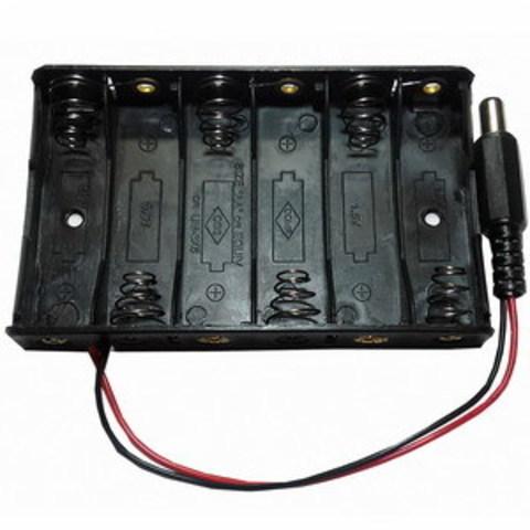 Батарейный отсек 6*АА (6х1) с разъемом питания