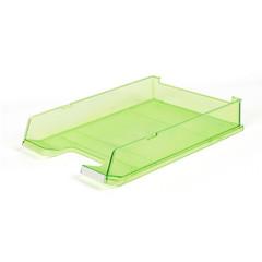 Лоток для бумаг HAN горизонтальный с индексным окном прозрачный зеленый