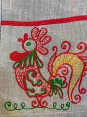 Фартук льняной с вышивкой