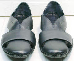 Модные сандали с закрытым носом мужские Luciano Bellini 76389 Blue.