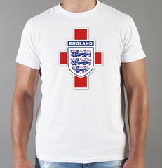 Футболка с принтом FC England (Сборная Англии) белая 003