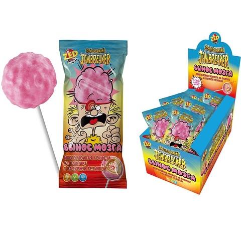 ЗУБОДРОБИЛКА Вынос мозга многослойная конфета на палочке с надувной резинкой, 1кор*12бл*10 шт. 72г