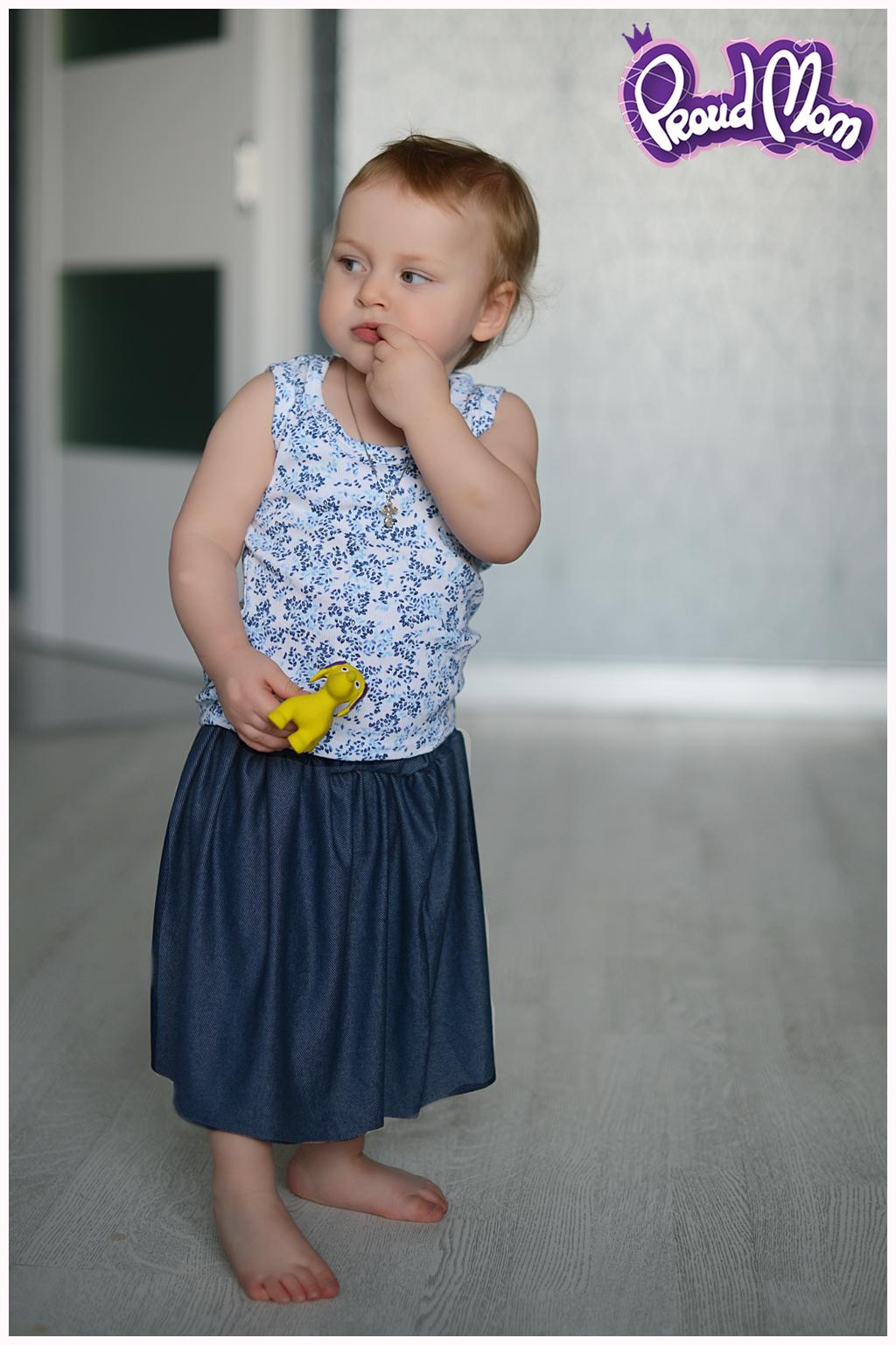 Юбочка детская синий джинс - фото 1 - Фото 1