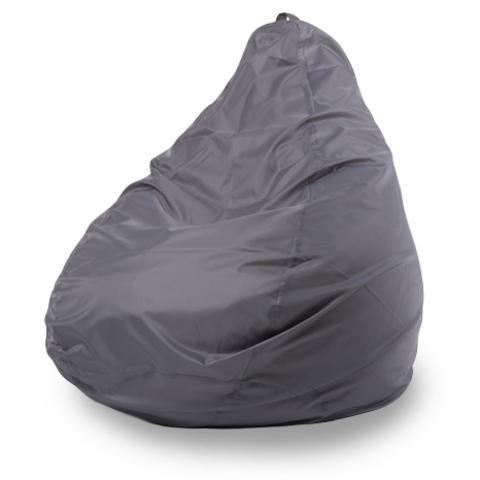 Пуффбери Внешний чехол Кресло-мешок груша  L, Оксфорд Серый