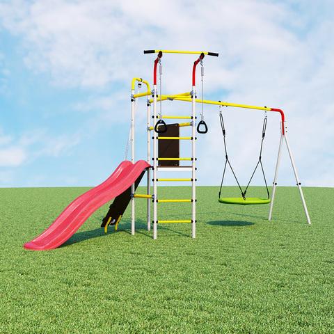 Детский спортивный комплекс для дачи ROMANA Островок Плюс (Качели гнездо)