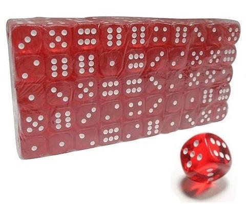Кубик игровой прозрачный. В упаковке 100 шт. :(18#-К):