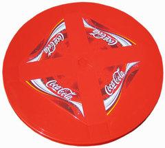 Пластиковый стол круглый с рисунком бордовый