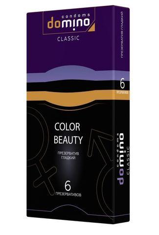 Разноцветные презервативы DOMINO Colour Beauty - 6 шт.