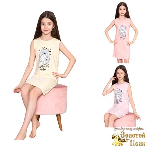 Сорочка хлопок девочке (6-14) 210318-М1158