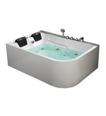 Акриловая ванна Frank F152 R 170х120 с гидромассажем правая